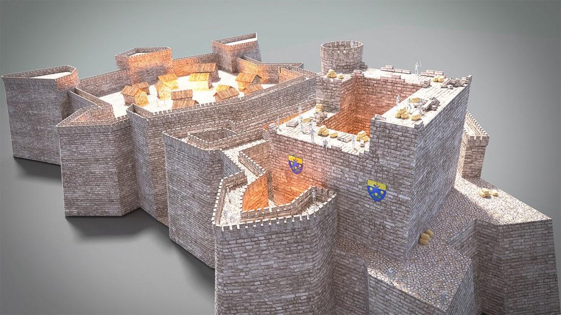 Reconsitution 3D du château médiéval 17e s par Ruben S stagiaire APOO
