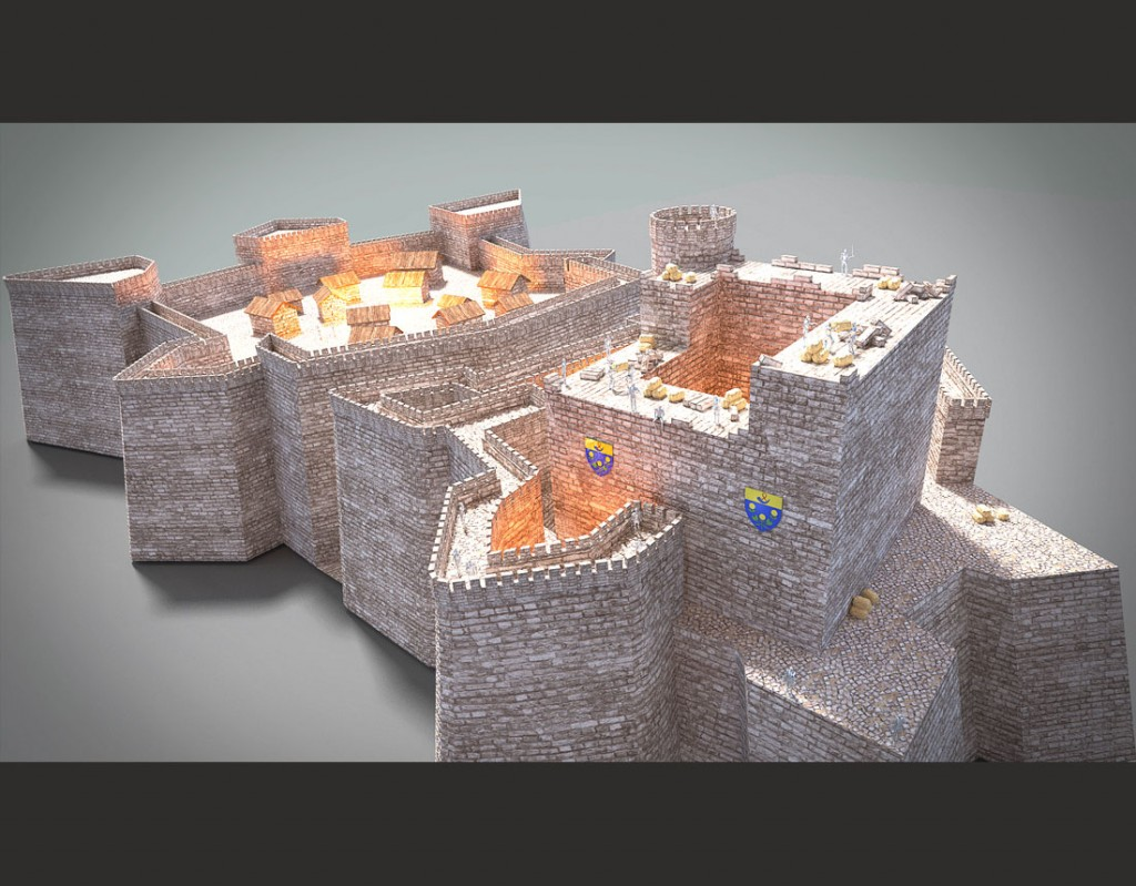 Modélisation du château d'Orange par Ruben stagiaire APOO d'après une maquette de Daniel membre APOO.