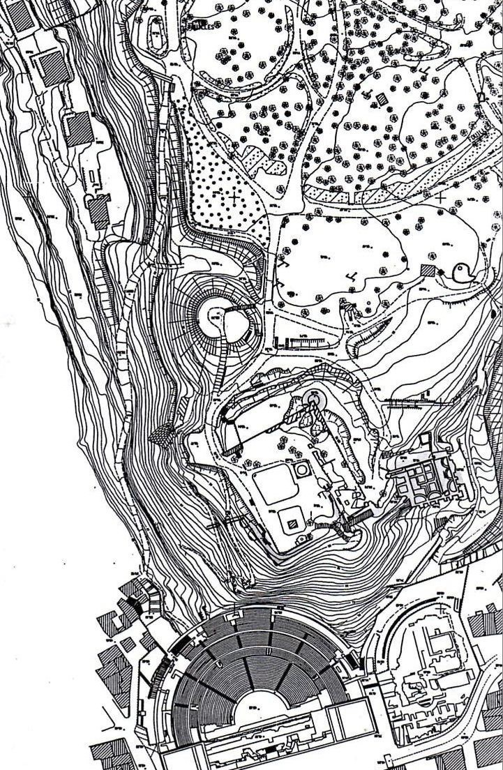 Carte topographique colline Saint-Eutrope d'Orange
