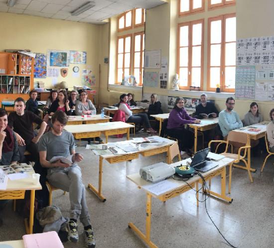 Atelier pédagogique avec inspection académique